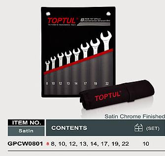Bộ cờ lê miệng vòng TOPTUL GPCW0801