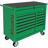 Tủ có bánh xe di động 13 ngăn màu xanh TOPTUL TCBA1301