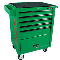 Tủ xe đẩy 5 ngăn di động màu xanh TOPTUL TCAF0501