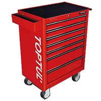 Tủ 7 ngăn có bánh xe di động - màu đỏ TOPTUL TCAA0702
