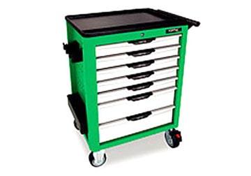 Tủ dụng cụ 7 ngăn  (viền màu xanh lá cây)  TOPTUL TCAG0702
