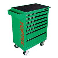 Tủ 7 ngăn có bánh xe di động - màu xanh TOPTUL TCAA0701