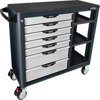 Tủ 7 ngăn có bánh xe di động màu xám  TOPTUL TCBH0703